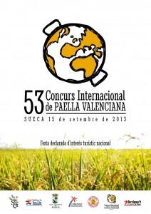 Cartel del concurso de paellas de Sueca 2013 diseñado por Socarrat estudio