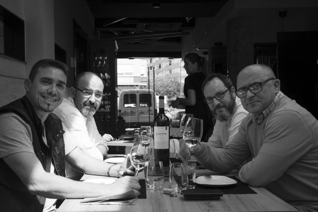 Vicente Sanfeliu, Javier Serrano, Andrés Soler y Nacho Unipro. Fotografía de Paco Bohigues.estaurante Ciro